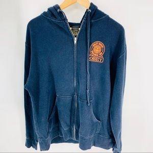 Obey Andre the giant navy hoodie